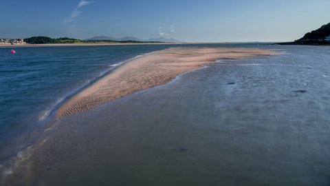 4k time lapse of the tide on the Menai Straits between Anglesey and the North Wales coast
