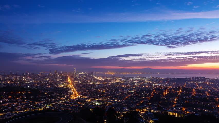 Downtown San Francisco Sunrise Timelapse