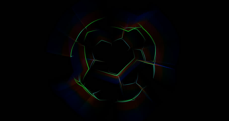 Abstract animation of soccer ball. Looped animation with alpha channel.  Animated background. Soccer Ball. Football background. | Shutterstock HD Video #1010292650