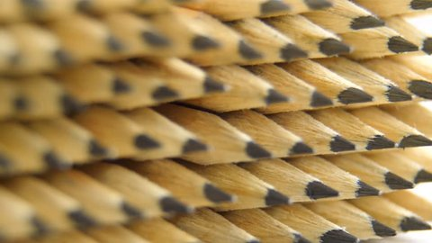 many wooden graphite pencils