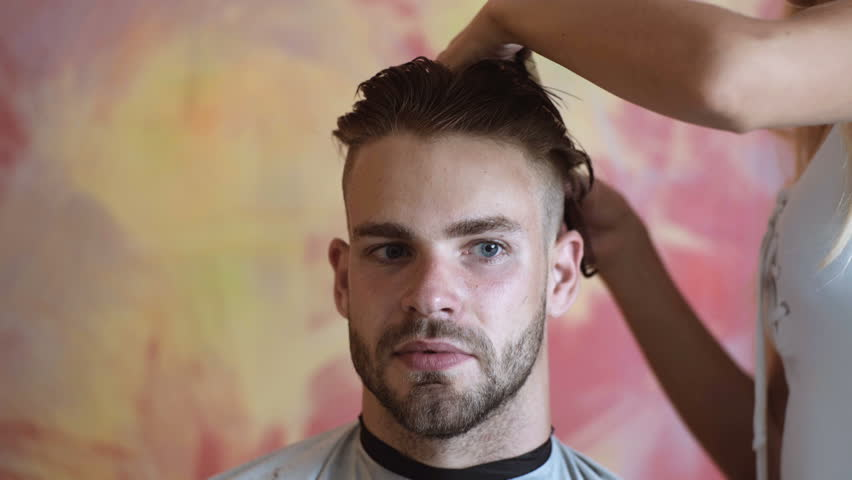 Mens Haircut At The Barber Stock Footage Video 100 Royalty Free