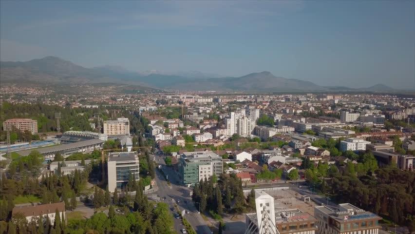 Panorama of the city, Podgorica Montenegro