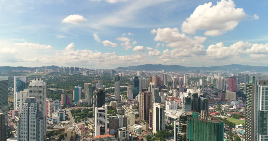 Aerial view of Kuala Lumpur downtown. Skylines and buildings - October 2017. Kuala Lumpur, Malaysia | Shutterstock HD Video #1010440700