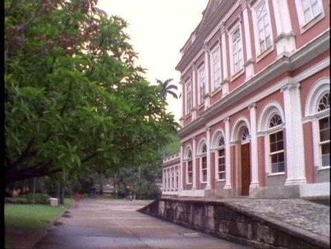 BRAZIL, 1998, Petropolis, Brazil, Don Pedro Palace, wide, pan right