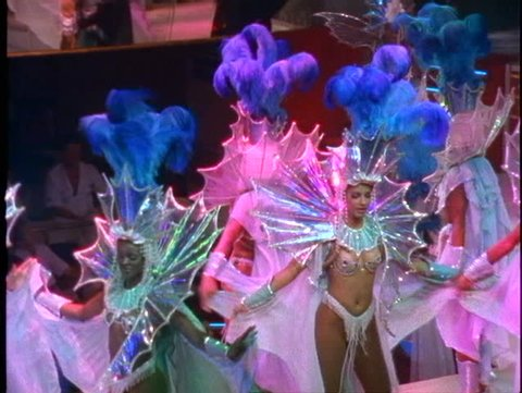 BRAZIL, 1998, Rio de Janeiro Samba Show, colorful costumes and lavish