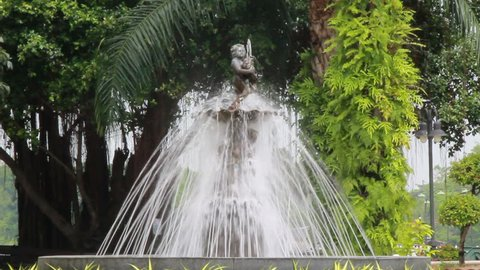 Fountains and cupids in park