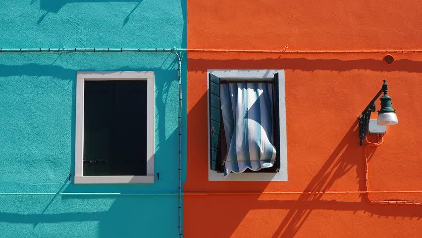 Burano, Venezia, Italy. Detailsof the colorful houses in Burano island   Shutterstock HD Video #1010540450