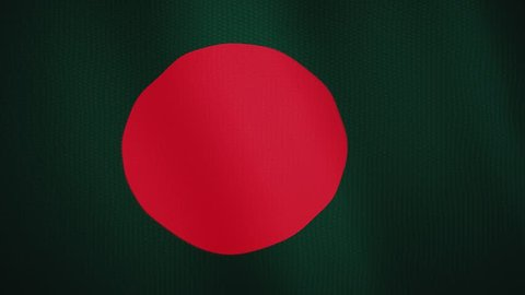 Bangladesh flag waving animation. Full Screen. Symbol of the country.