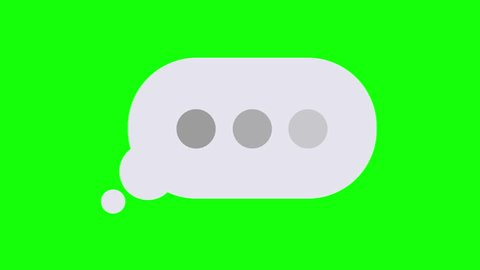 Social Chat Message Animated Icon Mobile Interface Incoming Message Bubble Popup