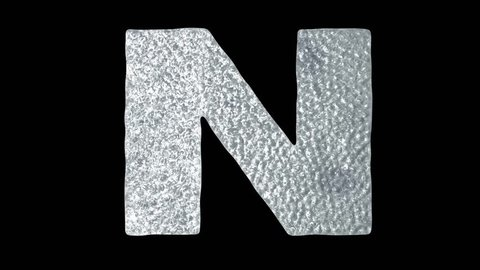 Letter N - Animated Ice Water Letters Concept