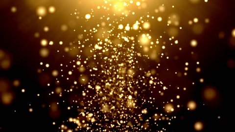 Gold Sparkling Background Loop 01