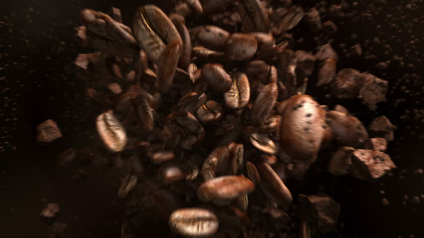 Exploding coffee beans in 4K | Shutterstock HD Video #1010741750