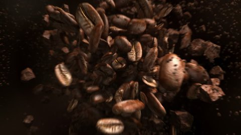 Exploding coffee beans in 4K