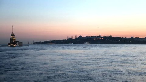 bosporus from uskudar istanbul, maidens's tower