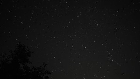 Dark Night Sky Starlapse