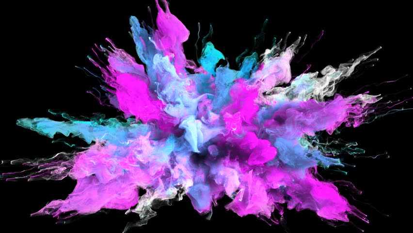 Color Burst Colorful Magenta Stock Footage Video 100