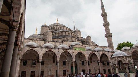 The Blue Mosque Sultan Ahmet Camii Istanbul Turkey timelapse hyperlapse
