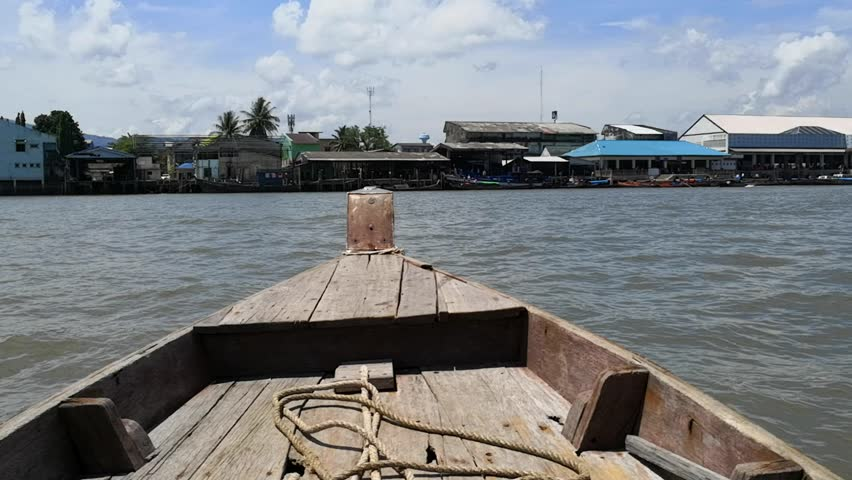 Sea transportation is Local Business in Ranong ; In the evening time with good weather local boat in Kawthoung, Myanmar harbor pick up passenger from Kawthoung pier send to Ranong province, Thailand.