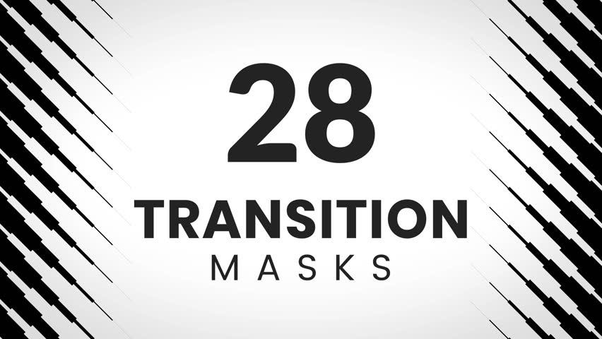 28 transition mask templates. Diagonal pattern. Simple and trendy textures for creative slideshow or business presentation.