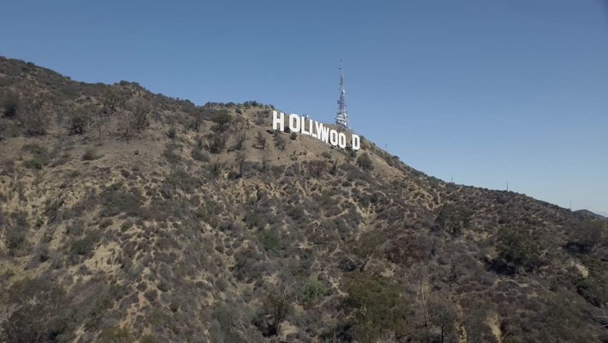 Los Angeles: Hollywood Sign (drone/aerial) | Shutterstock HD Video #1011106700