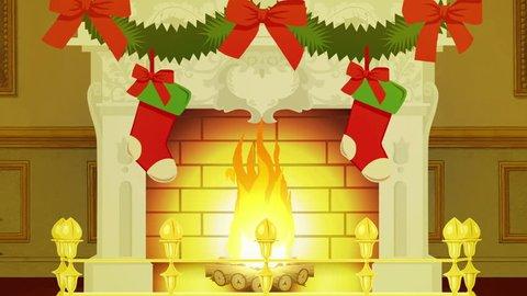 Christmas Living Room Cartoon Stock Video Footage 4k And Hd Video