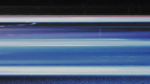 Super fast car lights. Blurred night motion time lapse - minimal background texture. Modern cityscape - street road traffic. Hyper speed urban movement UHD 4k.