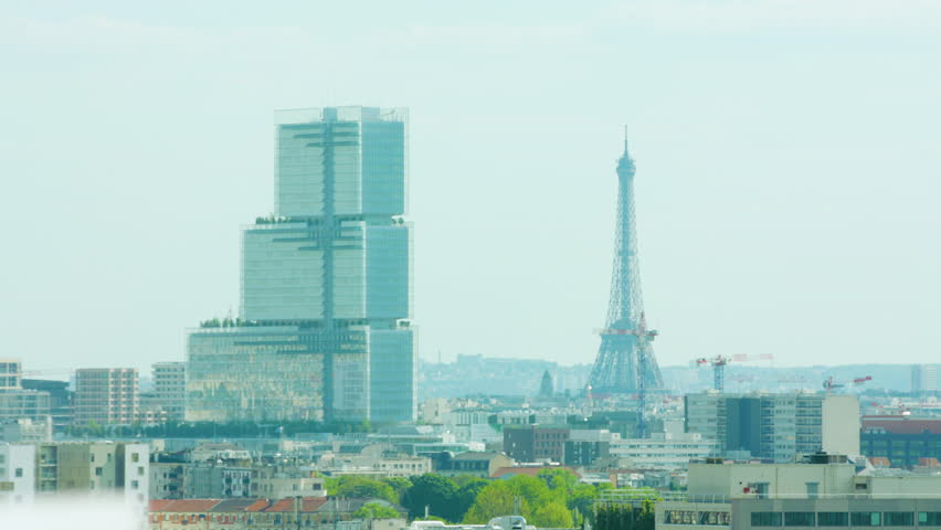 View of the Eiffel Tower in Paris France #1011242120