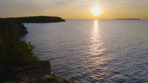 Stunning Sunset Over the Georgian Bay in Bruce Peninsula National Park