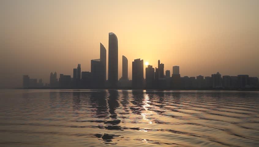 Sunrise in Abu Dhabi, United Arab Emirates  | Shutterstock HD Video #1011280070