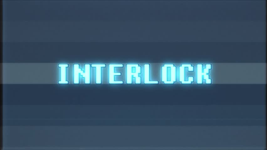 Retro videogame INTERLOCK word text computer tv glitch interference noise screen animation seamless loop  | Shutterstock HD Video #1011360200