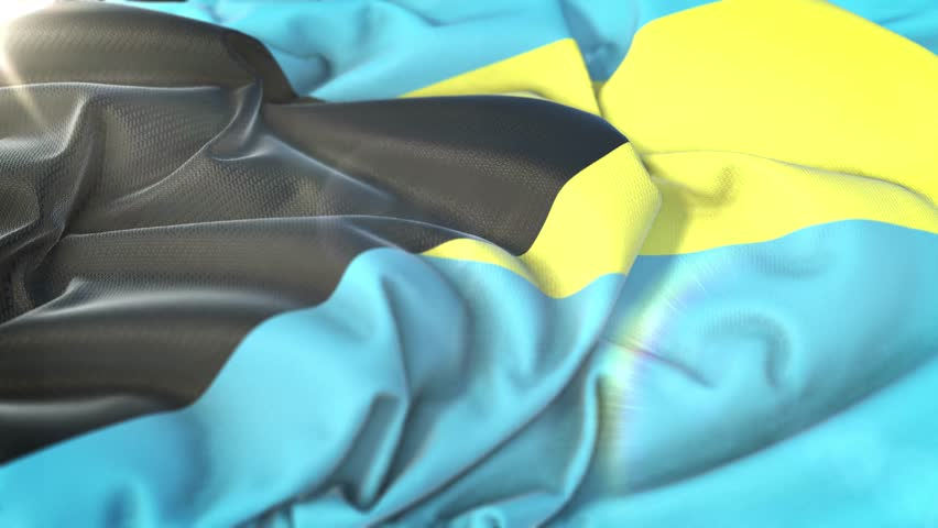 Bahamas flag.Flag of Bahamas Beautiful 3d animation of Bahamas flag in loop mode.Bahamas flag animation