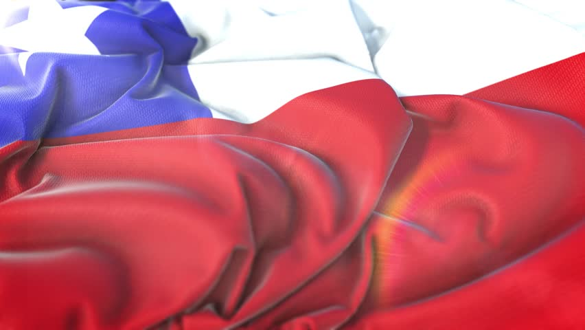 Chile flag.Flag of Chile Beautiful 3d animation of Chile flag in loop mode.Chile flag animation
