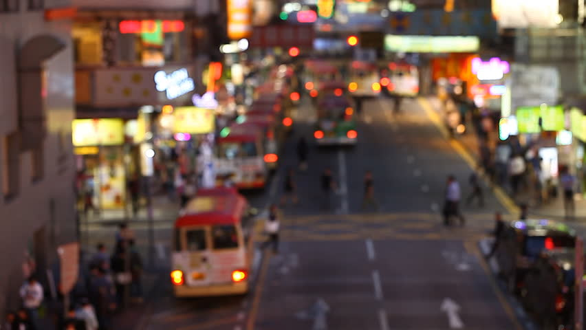 Night traffic on the streets of Hong Kong | Shutterstock HD Video #1011387020