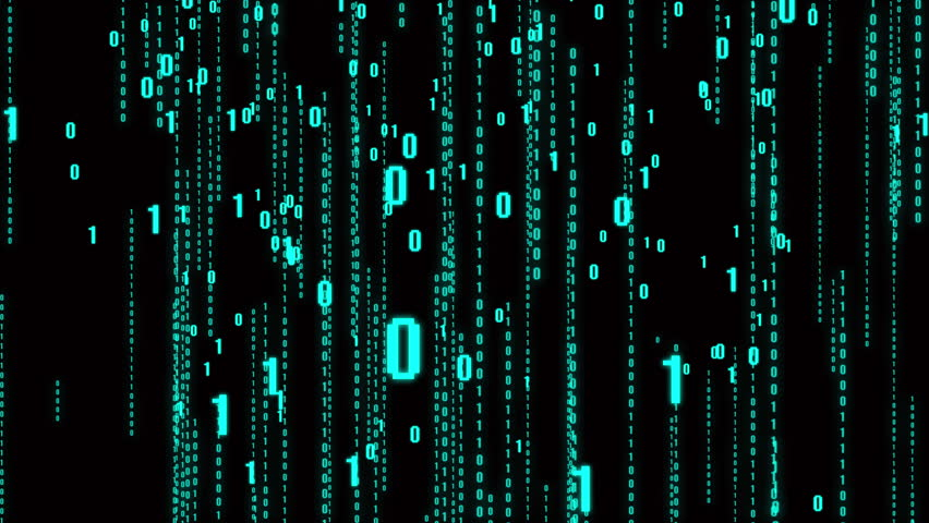 4k The Matrix style binary code,Matrix of changing from zero to one digits,abstract future tech background.blue version. | Shutterstock HD Video #1011399320