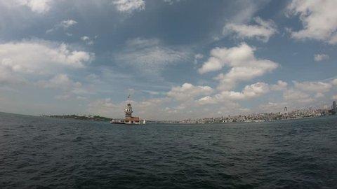Maiden's Tower ( Kiz Kulesi) Timelapse Istanbul, Turkey