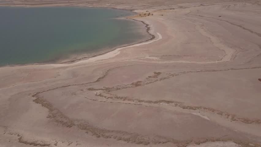 Dead sea desert 4k aerial view ungraded flat | Shutterstock HD Video #1011483200