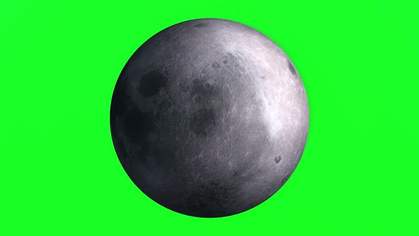 4K Green Screen Moon Rotating,Full Rotation, Seamless Loop - Realistic Moon Turning 360 Degrees   Shutterstock HD Video #1011484940