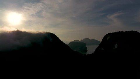 Beautiful View of Phang Nga Bay from Samed Nang Chee Viewpoint, Phang Nga, Thailand