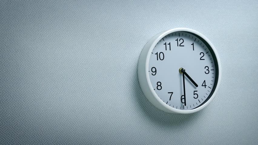 4.30 Clock On Wall   Shutterstock HD Video #1011548690