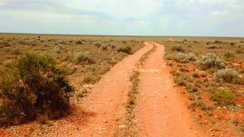 Track across the Nullarbor Plain, Australia