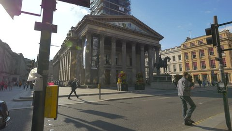 Glasgow, United Kingdom - May, 2016: The Gallery of Modern Art in a square, Glasgow