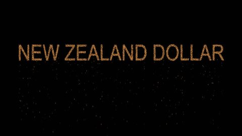Currency Name New Zealand Dollar Ears From The Sand Then Crumbles Alpha Channel Premultiplied