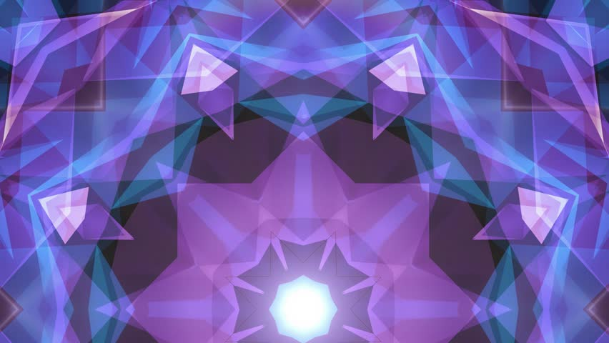 abstract symmetrical BLUE PURPLE polygon star shape net shiny cloud animation background new quality dynamic technology motion colorful video footage