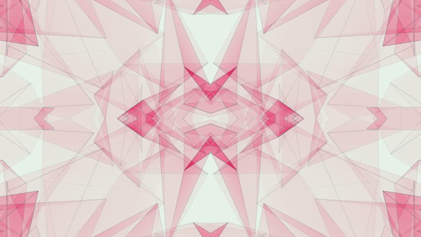 Abstract symmetrical RED polygon shape net shiny cloud animation background new quality dynamic technology motion colorful video footage | Shutterstock HD Video #1011980810