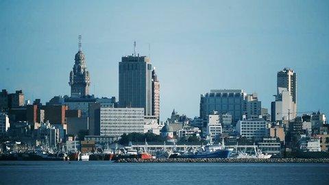 Harbor of Montevideo, in Uruguay. Zoom In.