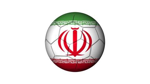 flag Iran map soccer ball