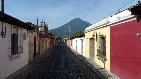 Antigua Guatemala, calle colonial, street old