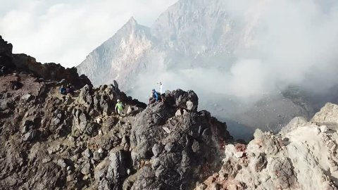 aerial merapi volcano indonesia
