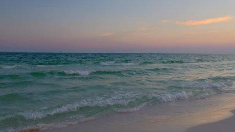 Gulf of Mexico at sunset near Grayton Beach in Florida.