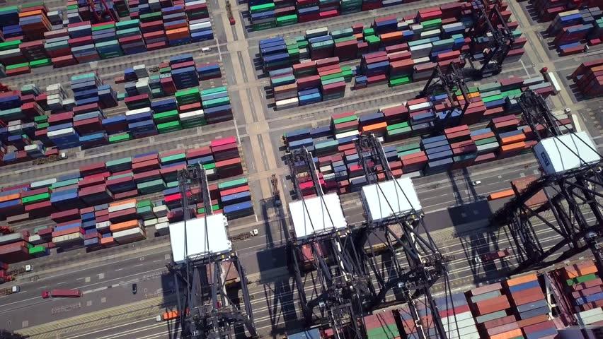 Kwai Tsing, Hong Kong 02 May 2018:- Kwai Tsing Container Terminals  | Shutterstock HD Video #1012365920